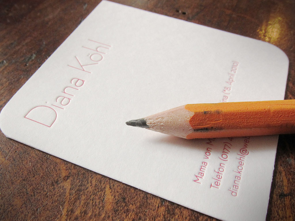 Letterpress-Kärtchen mit feinen Linien